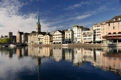 pejzaż miejski Zurich Obrazy Royalty Free