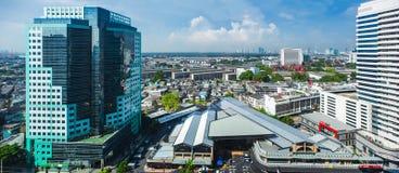Pejzaże miejscy, Buduje w Klongtoey przy Ramy 4 drogą Bangkok Tajlandia zdjęcia royalty free