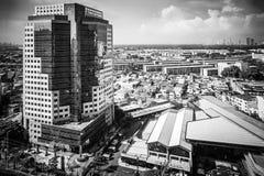 Pejzaże miejscy, Buduje w Klongtoey przy Ramy 4 drogą Bangkok Tajlandia obraz stock