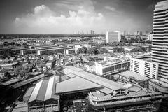 Pejzaże miejscy, Buduje w Klongtoey przy Ramy 4 drogą Bangkok Tajlandia fotografia stock