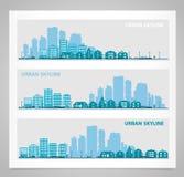 Pejzażu miejskiego set ilustracji