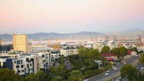 Pejzażu miejskiego spojrzenie przy Kapsztad miastem zdjęcie wideo