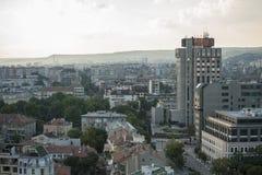 Pejzażu miejskiego widok w centrum Varna Bułgaria obraz stock