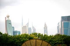 Pejzażu miejskiego widok w Dubai zdjęcia stock