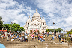 Pejzażu miejskiego widok w Paryż Obrazy Royalty Free