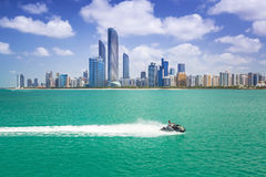 Pejzaż miejski Abu Dhabi, UAE Zdjęcia Royalty Free