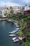 Pejzaż miejski Agios Nikolaos Crete Obrazy Stock