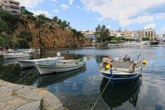 Pejzaż miejski Agios Nikolaos Crete Zdjęcie Stock