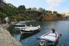 Pejzaż miejski Agios Nikolaos Crete Obraz Royalty Free