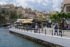 Pejzaż miejski Agios Nikolaos Crete Zdjęcie Royalty Free
