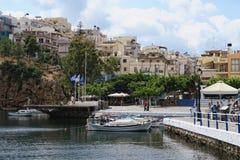 Pejzaż miejski Agios Nikolaos Crete Fotografia Stock