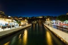 Pejzaż miejski Agios Nikolaos, Grecja Fotografia Royalty Free