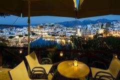 Pejzaż miejski Agios Nikolaos, Grecja Zdjęcia Royalty Free