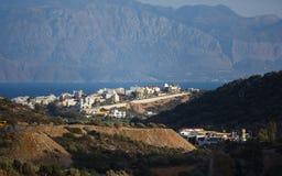 Pejzaż miejski Agios Nikolaos, Grecja Obraz Royalty Free