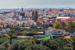 Pejzaż miejski Aguimes, Gran Canaria, Hiszpania Zdjęcia Royalty Free