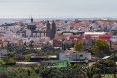 Pejzaż miejski Aguimes, Gran Canaria, Hiszpania Zdjęcia Stock