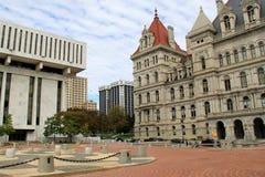 Pejzaż miejski Albany architektura, Nowy Jork, 2015 Obrazy Royalty Free