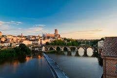 Pejzaż miejski Albi, Francja Obraz Royalty Free