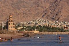 Pejzaż miejski Aqaba, Jordania Obrazy Stock