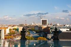 Pejzaż miejski Berlin z tv wierza przy dnem Obraz Stock