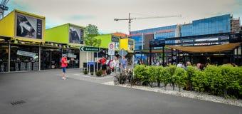 Pejzaż miejski Christchurch, Nowa Zelandia Obraz Stock