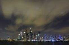 pejzaż miejski Dubai marina panoramiczny sceny zmierzch Obraz Royalty Free
