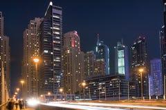pejzaż miejski Dubai marina panoramiczny sceny zmierzch Zdjęcie Royalty Free