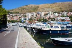 pejzaż miejski Dubrovnik schronienie Obraz Stock