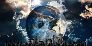 pejzaż miejski futurystyczny Obraz Stock