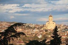 pejzaż miejski Georgia Tbilisi Obrazy Royalty Free
