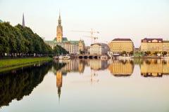 Pejzaż miejski Hamburg, Niemcy Zdjęcie Royalty Free