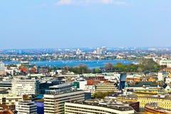 Pejzaż miejski Hamburg od Fotografia Royalty Free