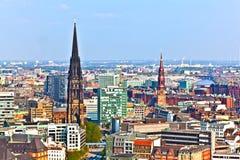 Pejzaż miejski Hamburg od Zdjęcie Stock