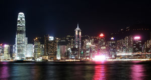 pejzaż miejski Hong kong Obraz Royalty Free