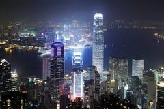 pejzaż miejski Hong kong Obrazy Royalty Free