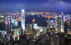 pejzaż miejski Hong kong Obrazy Stock