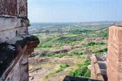 Pejzaż miejski Jodhpur od Mehrangarh fortu Obraz Stock