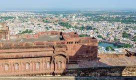 Pejzaż miejski Jodhpur od Mehrangarh fortu Obrazy Royalty Free