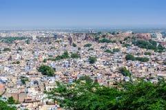 Pejzaż miejski Jodhpur od Mehrangarh fortu Zdjęcie Stock