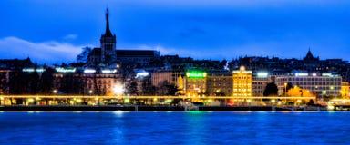 pejzaż miejski jutrzenkowy Geneva Zdjęcia Royalty Free
