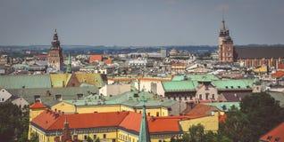 Pejzaż miejski Krakow w Polska Zdjęcie Stock