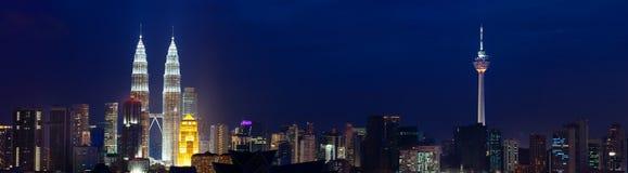 Pejzaż miejski Kuala Lumpur, Malezja. Obrazy Stock