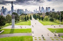 Pejzaż miejski linia horyzontu w Melbourne, Australia Obrazy Royalty Free