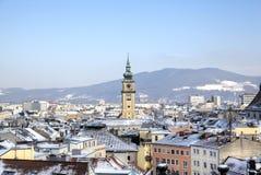 Pejzaż miejski Linz od Linzer Schloss Fotografia Royalty Free