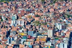 Pejzaż miejski los angeles Paz, Boliwia Obrazy Royalty Free