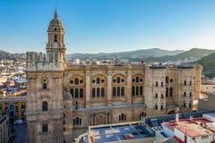 Pejzaż miejski Malaga katedra Zdjęcie Stock