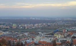 pejzaż miejski Maribor, widok od Piramidy wzgórza Obraz Stock