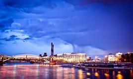 pejzaż miejski Moscow noc Fotografia Stock