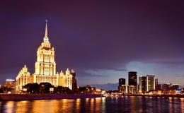 pejzaż miejski Moscow noc Zdjęcie Royalty Free