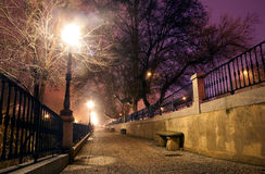 pejzaż miejski noc Fotografia Royalty Free